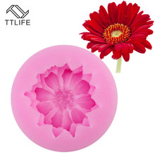 TTLIFE 3D Daisy Flower Shape Silicone Mold Pastry Cupcake Chocolate Soap Bakeware Mould Fondant Cake Sugarcraft Decoration Tools ttlife 3d daisy flower shape silicone mold pastry cupcake chocolate soap bakeware mould fondant cake sugarcraft decoration tools