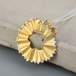 Image 3 - Lotus zabawy prawdziwe 925 Sterling Silver Handmade Fine Jewelry kreatywny ołówek wióry projekt wisiorek bez naszyjnik dla kobiet prezent