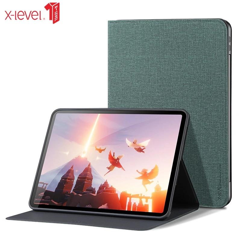 X Level Canvas Cases For 2021 New Ipad Pro 12 9 11 Air 3 10 5 Ipad 10 2 10 9 Mini 1 2 3 4 5 Ultra Thin Cloth Sleep Smart Cover Tablets E Books Case Aliexpress