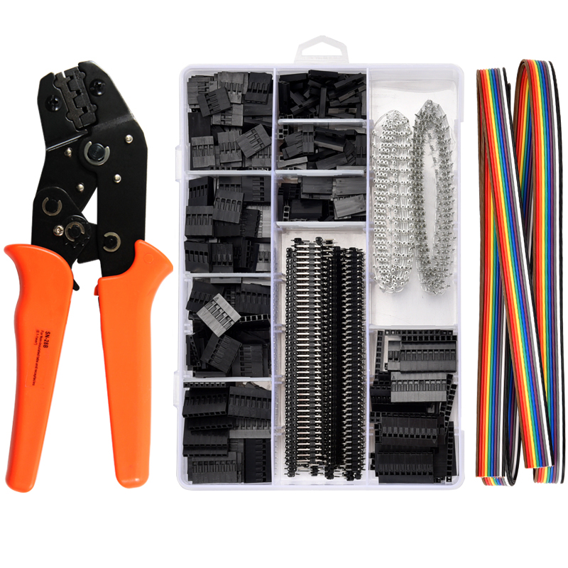 SN-28B 1550Pcs Dupont Connector crimping tool mini crimp pliers terminal ferrule crimper wire hand tool set terminals clamp kit