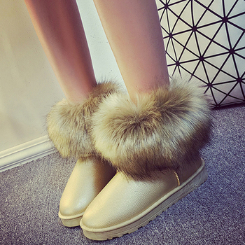 Women Winter Warm Boots Antiskid Outsole Lady Snow Boots Fashion Style Easy Wear Hairy Ankle Boots