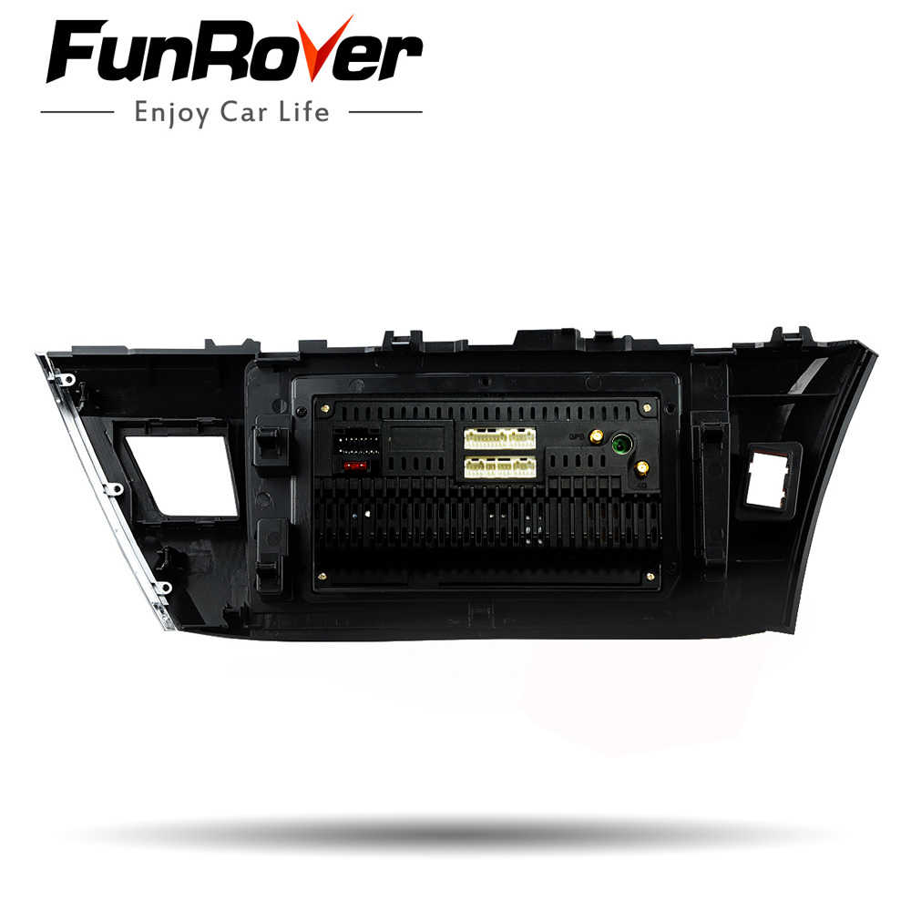 Funrover 2.5D+ IPS Android 8.0 Car Multimedia player 2 din car radio dvd for Toyota Corolla 2014-2016 gps navigation stereo RDS
