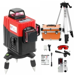Kaitian Nivel Laser Level Tripod Profissional Self-Leveling Horizontal&Vertical Powerful 360 Bracket Red 3D Lasers Line&Receiver