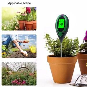 Image 5 - Termômetro digital 4 em 1 para uso múltiplo, medidor de ph do solo, umidade, luz solar, monitor de temperatura para jardinagem, plantas