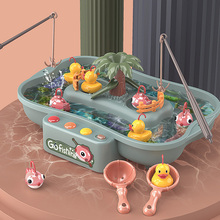 Baby Bathing Toy for Toddlers 13 24 months Montessori Fishing Board Game Bath Toys For Kids Boys Girls Water Table Musical Gifts