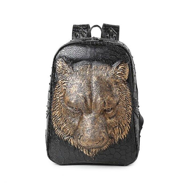 Tigre motif affaires anti-vol sac à dos épaules collège voyage sport ordinateur sac