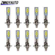 10PCS H1 Led Lamp Car Fog lights 3535SMD 1400LM Daytime Running Light h1 Auto Bulbs 6000K