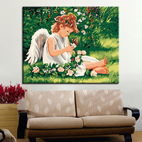 angel DIY Painting By Numbers Kits Calligraphy Painting Acrylic Paint By Number For Home Decoration A work of art