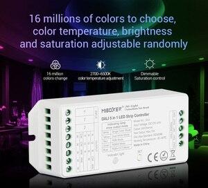 MiBOXER DALI 5 в 1 светодиодный контроллер DL5 15A Одноцветный/CCT/RGB/RGBW/RGB + CCT светодиодный затемнитель, DC12V-24V
