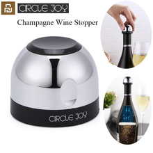 Youpin Circle Joy Mini tapón de champán para vino espumoso, Mini tapón de vino, cerradura rotativa, preservación eficiente al vacío