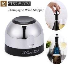 Youpin daire sevinç köpüklü şarap Mini şampanya tıpası Mini şarap stoper döner kilit DesignVacuum verimli koruma