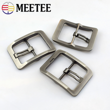 Meetee 1/2/5pcs Fashion Men Belt Buckles Metal Pin Buckle for 38-39mm DIY Leathercraft Jeans Accessories F1-54