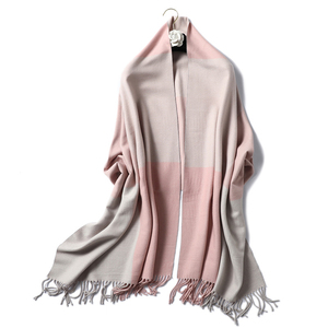 Image 3 - Casual Cashmere Scarf Women Winter Neck Warm Scarves Thick Shawls Wraps for Lady Solid Palid Pashmina Echarpe Femme 2020 New