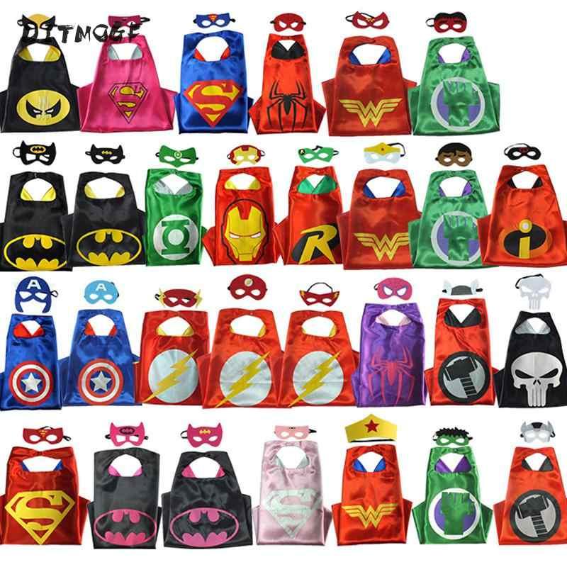 驚異アベンジャーズ図スーパーヒーローコスプレマント岬ショールキャプテンアメリカスパイダーマントールハルク玩具アイマスク