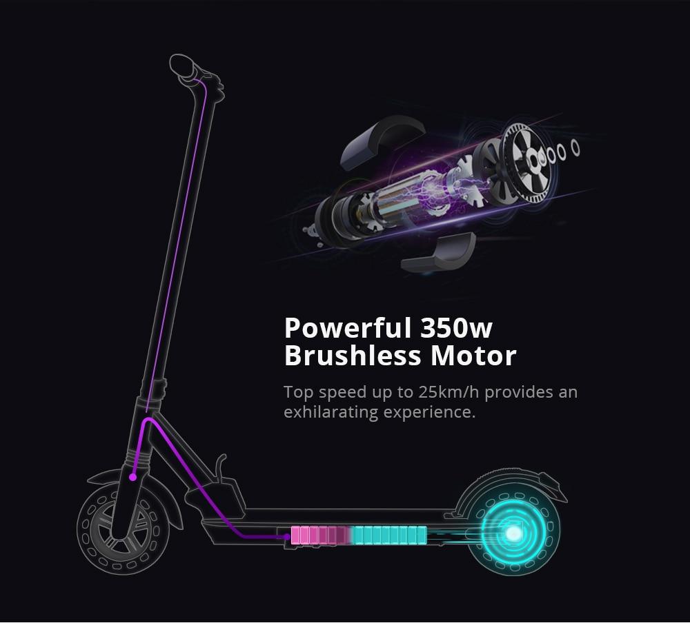 KUGOO KIRIN S1 Folding Electric Adult Scooter 350W APP Control Electric Skateboard Honeycomb tire e Scooter (2)