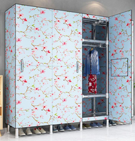 wardrobe шкаф для одежды Oxford Cloth folding clothes Storage cabinet bedroom furniture wardrobe closet