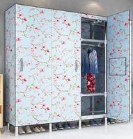 wardrobe шкаф для одежды Oxford Cloth folding clothes Storage cabinet bedroom furniture wardrobe closet