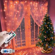 Wtyczka do usa ue serce kurtyna LED string pilot światełka girlanda sypialnia ślub strona główna dekoracyjna świąteczna światełka tanie tanio PAPASGIX CN (pochodzenie) ROHS 1 year CHRISTMAS Z tworzywa sztucznego Żarówki led Brak Klin 300cm 1-5 m WHITE MULTI Ciepły biały