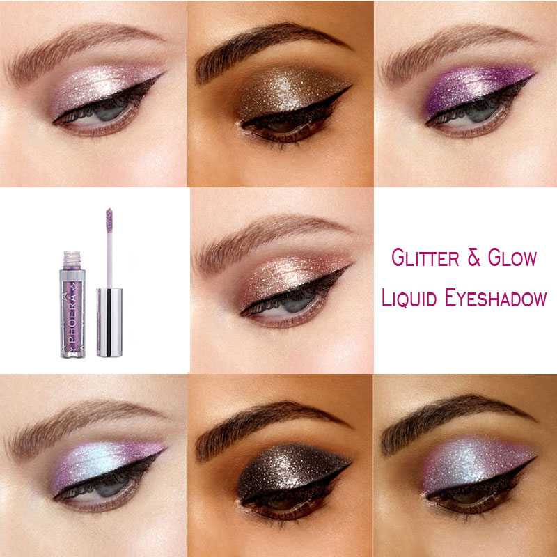 12 Colour Glitter Liquid Eye Shadow Shiny Eye Shadow Long Lasting Waterproof Quick Dry Sexy Charming