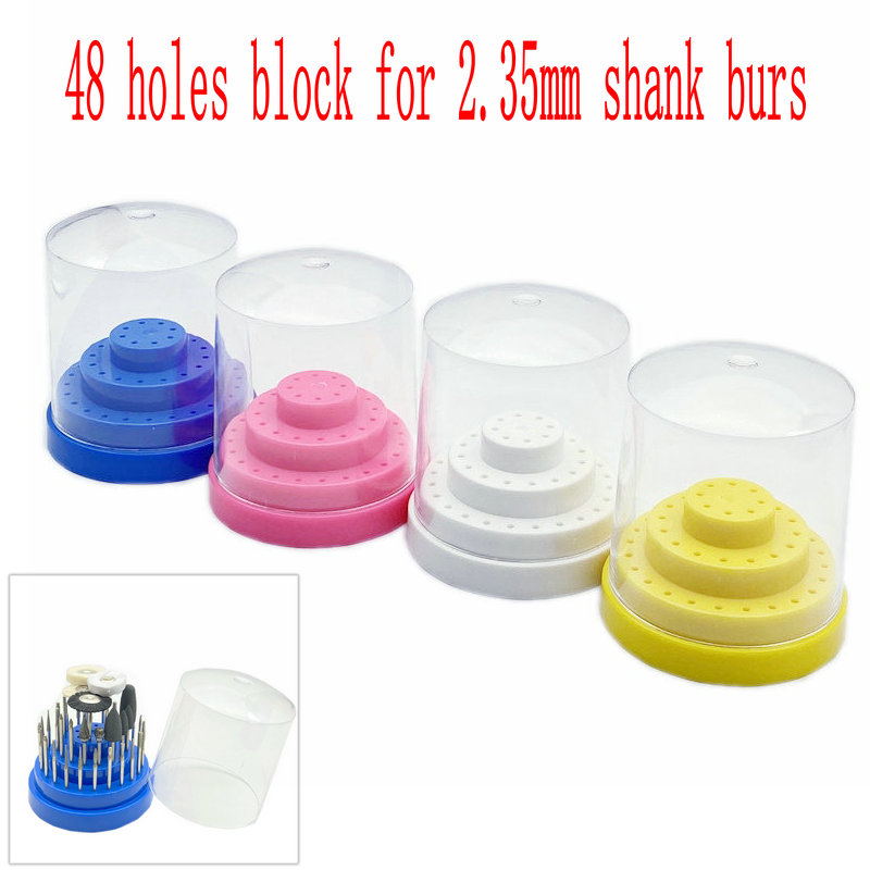 48 Holes Dental Bur Block Drill Placement Box Dentist Tools Drill Case Disinfection Holder Dentistry Instrument