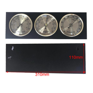Image 5 - 3Pcs/Set Hygrometer Manometer Thermometer Barometer With Wooden Frame Base Gift Ornaments/Weather Station Instrument