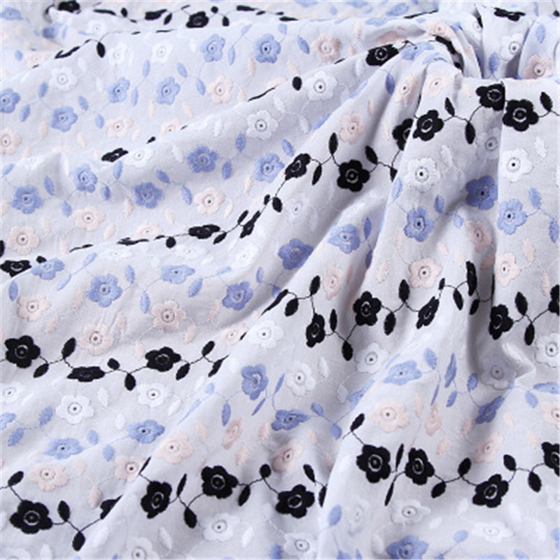 100 * 132cm cotton embroidery fabric color thread lace clothing pillowcase tablecloth accessories