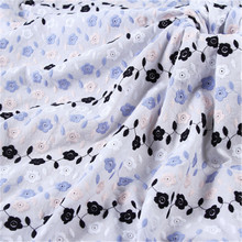100 * 132cm cotton embroidery fabric color thread embroidery fabric lace clothing pillowcase tablecloth accessories