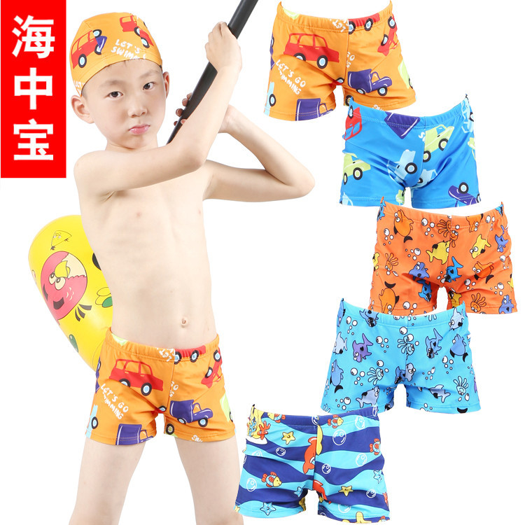 Swimming Suit Boy Big Kid CHILDREN'S Baby Swimming Trunks Cartoon Children AussieBum 7906, 7907 7909