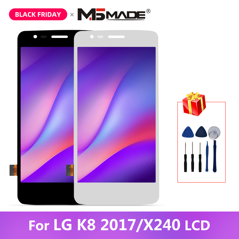 Original For <font><b>LG</b></font> K8 2017 <font><b>X240</b></font> <font><b>LCD</b></font> Touch Screen Digitizer Display Assembly With Frame For <font><b>LG</b></font> X240H X240DSF <font><b>X240</b></font> X240K Display image