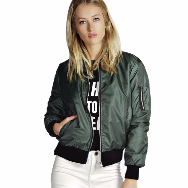 H0275c0ef36714648a9d1cc793a9132a9O 2021 Spring Autumn Women Thin Jackets Tops MA1 Basic Bomber Jacket Long Sleeve Coat Casual Stand Collar Slim Fit Outerwear