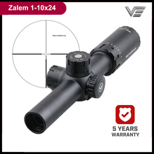 Vector Optics Zalem 1 10x24 10x zoom Tactical Rifle Scope with BDC ASR 1/10MIL for AR15 308Win Close Mid Range Shooting Hunting