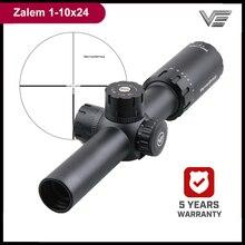 וקטור אופטיקה Zalem 1 10x24 10x זום טקטי רובה היקף עם BDC ASR 1/10MIL עבור AR15 308Win קרוב אמצע טווח ירי ציד