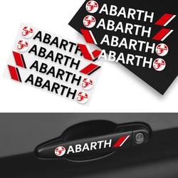 4pcs Car Body Sticker Door Handle Sticker Decals For Abarth B60X KO 695Rivale 500X 500L 124 Spider Coupe Tipo Panda Doblo Qubo