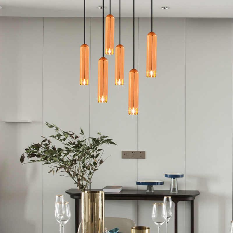 minimalist led pendant lights long rose