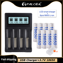 PALO بطارية ليثيوم قابلة لإعادة الشحن USB ، 3.7 فولت ، 18650 مللي أمبير ، 3200 14500 18650 16350 18500 فولت ، لبطارية ليثيوم أيون 3.7