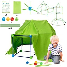 Kid Construction Fort Building Castles Tunnels Tents Kit DIY 3D Magination Cultivation Play House Assemble Toys Children Gifts