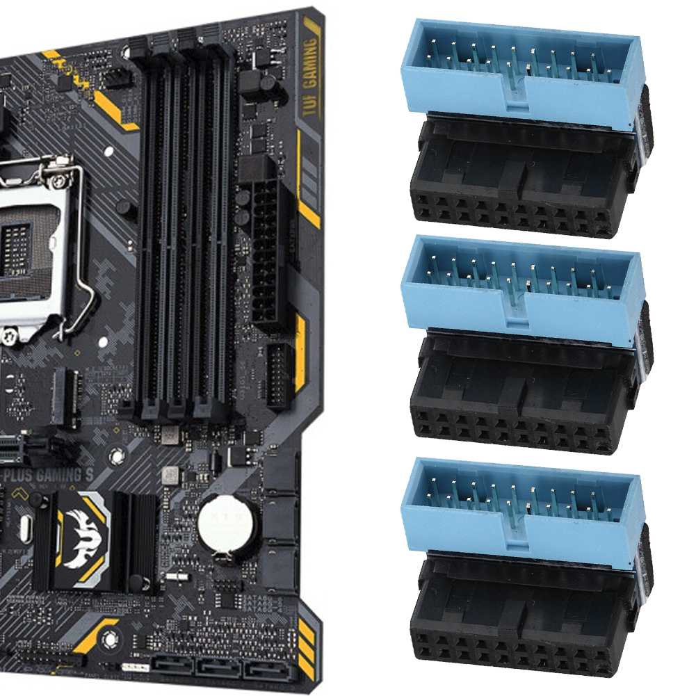 5pcs <font><b>Motherboard</b></font> 19 Pin <font><b>Connector</b></font> 90 Degree Angled <font><b>USB</b></font> <font><b>3.0</b></font> <font><b>Motherboard</b></font> Internal Header <font><b>Motherboards</b></font> Connectors image