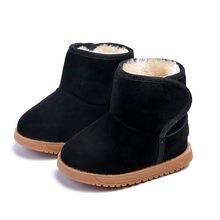 Mode Kinderen Winter Laarzen Baby Jongens Meisjes Lederen Sneeuw Martin Boot Kids Super Warm Boot Met Pluche Schoenen Kinderen Sneeuw laarzen