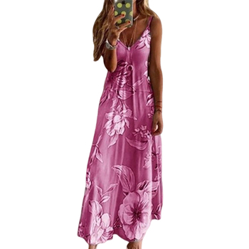 Vintage Floral Sleeveless Holiday Long Maxi Dress 4
