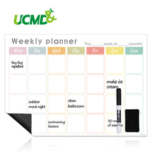 Magnetic Calendar for Refrigerator Erasable Writing Message Boards Daily Weekly Monthly Planner Organizer Fridge Magnets 42x30cm 2019 table calendar 2018 weekly planner monthly plan to do list desk calendar daily rainlendar simple style desktop calendar