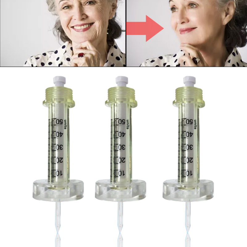 0.5ml 50pcs Syringe Ampoule head for hyaluron gun hyaluronique pen thesera gun High Pressure wrinkle removal water syringe-in Tattoo Tips from Beauty & Health    3