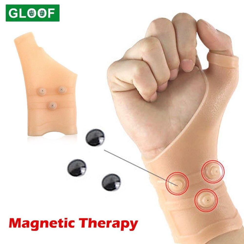 1 шт. Гольф силиконовый магнитный анти-артрит компрессионная терапия перчатки ревматоидного ручной боли запястья руки с Поддержка перчатки...