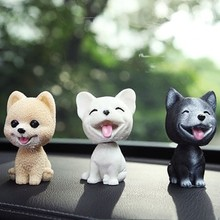 car ornaments nodding lovely resin shaking head interior decorations accessories for vehicle decorating cars Nodding Dog Funny Shaking Head Dog Cute Puppy Dolls Swing Car Dashboard Ornaments Home Auto Interior Decor Car Dashboard Toys