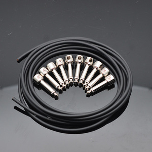 Image 2 - Juego de cables para guitarra sin soldadura, 10 conectores cromados sin soldadura, 3M