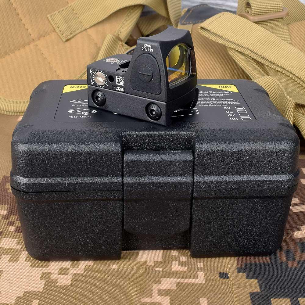 Mini RMR kolimator kolimator red dot Glock / Rifle Reflex luneta fit 20mm szyna tkacka do Airsoft/karabin myśliwski