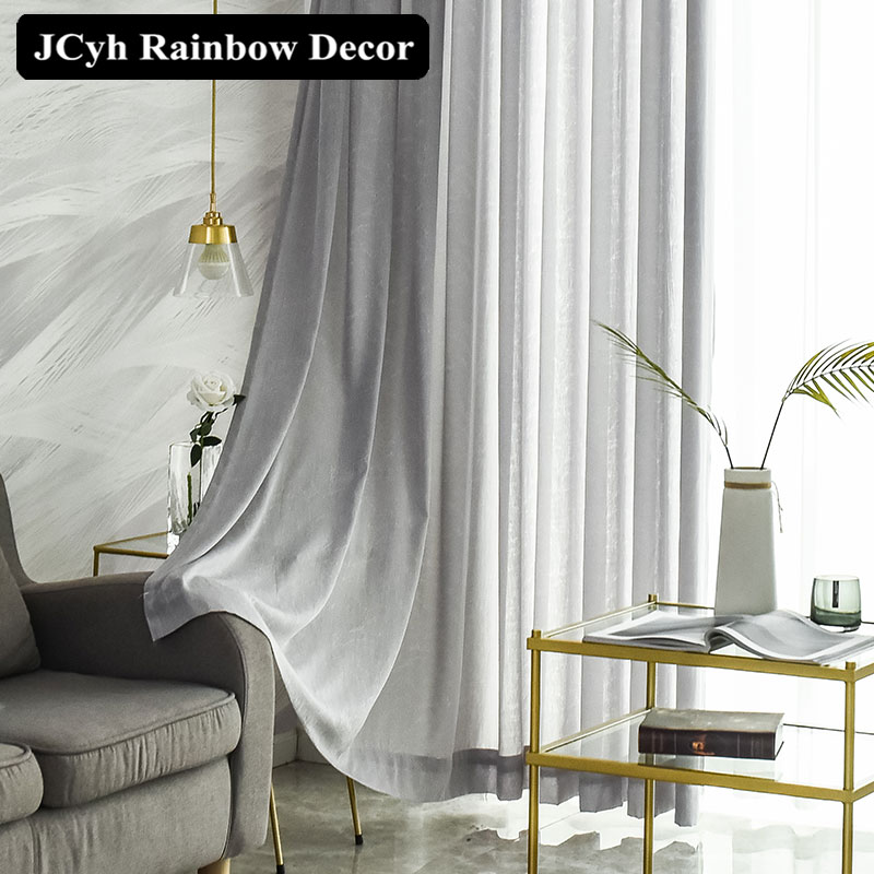 Jcyh Super Soft Modern Tulle Curtains For Living Room Bedroom Twig Voile Sheer Curtains For Window Blinds Home Decor Treatment Curtains Aliexpress