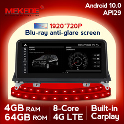 Androida 10.0 4GB pamięci RAM i 64GB ROM samochodu nawigacja multimedialna gps odtwarzacz dla BMW X5 E70 X6 E71 2007-2013 z SIM 4G LTE wifi IPS BT