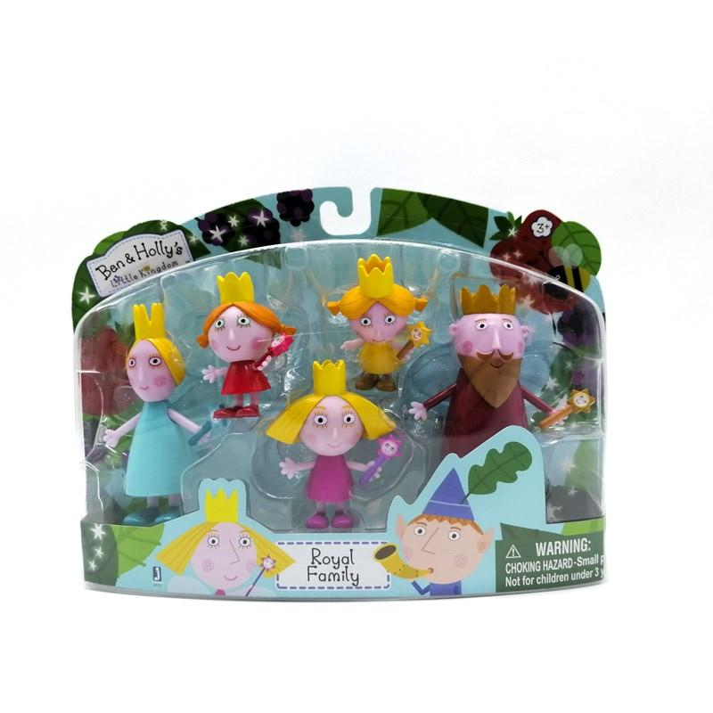 Оригинальные куклы Бен и Холли, маленькие фигурки королевской семьи, коллекционная экшн-фигурка, ПВХ Модель, детская игрушка, подарки