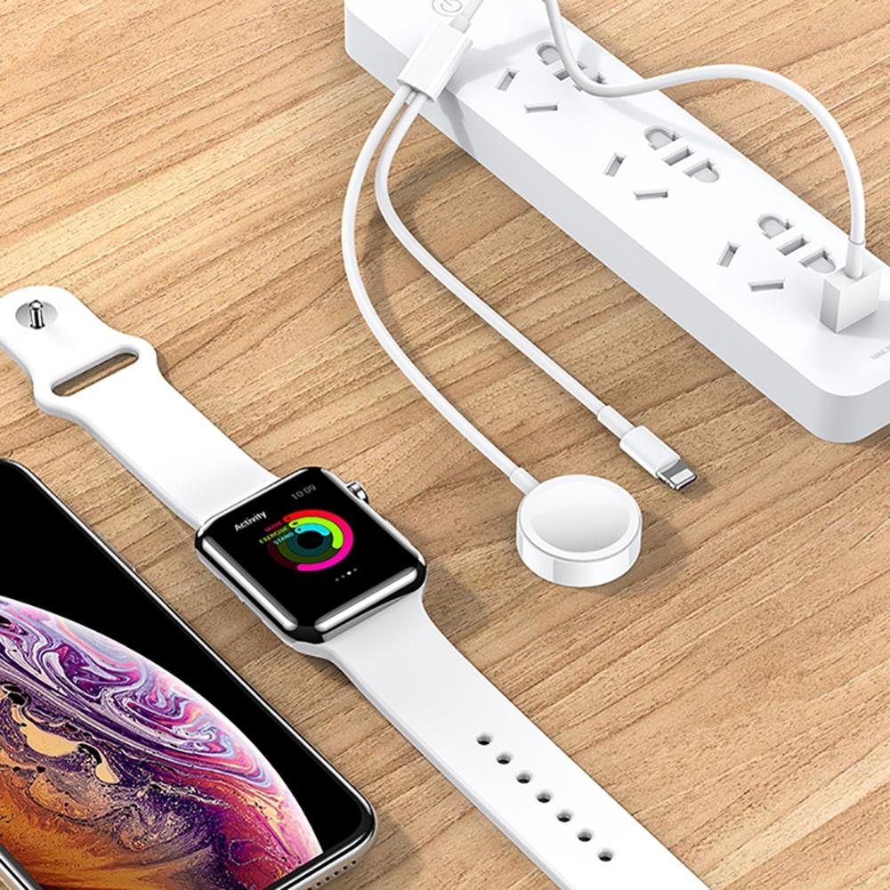 2 in 1 Wireless Charger Phone Smart Watch Fast Charging Cable for iPhone 7 8 X