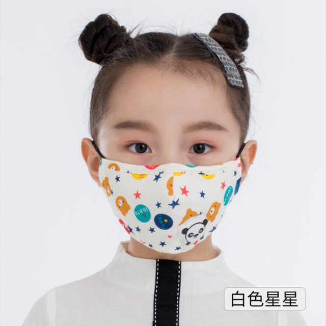 Cartoon 3-10 year old Kids mask PM2.5 Anti Haze Cotton Mask Breath valve anti-dust mouth mask Activated carbon filter respirator 1